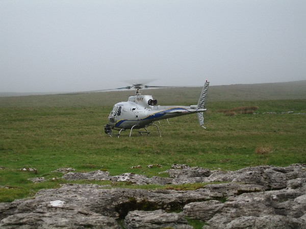 BBC filming by helicopter