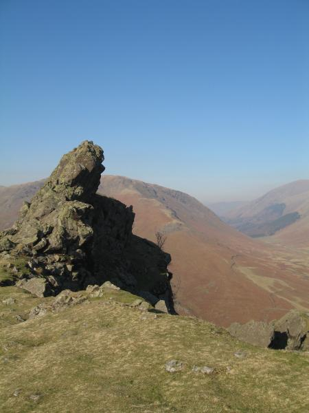 Helm Crag with Dunmail Raise beyond