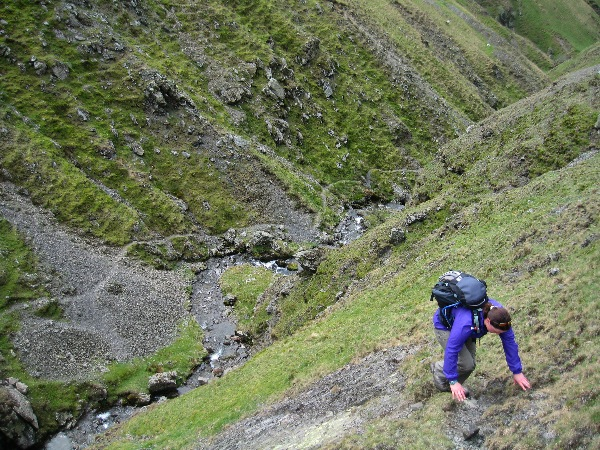 Liz scrambling alongside Brow Force