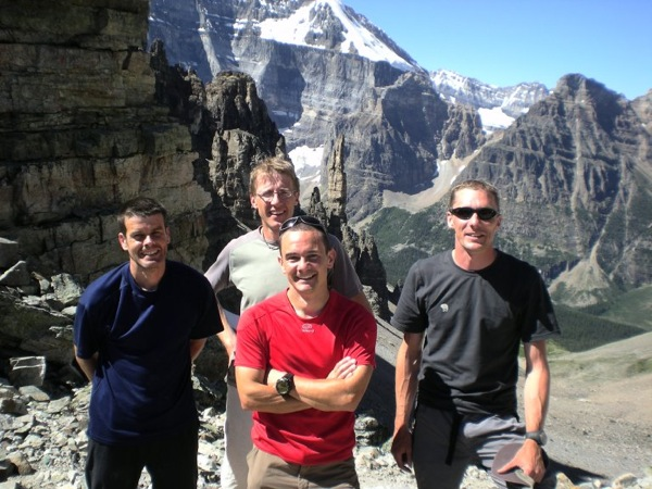 The Team - but not in the Bugaboos! More on that spire later...