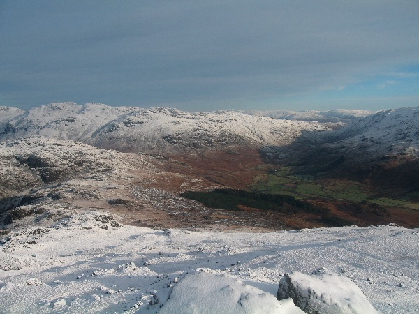 Looking towards Wrynose Bottom from Harter Fell