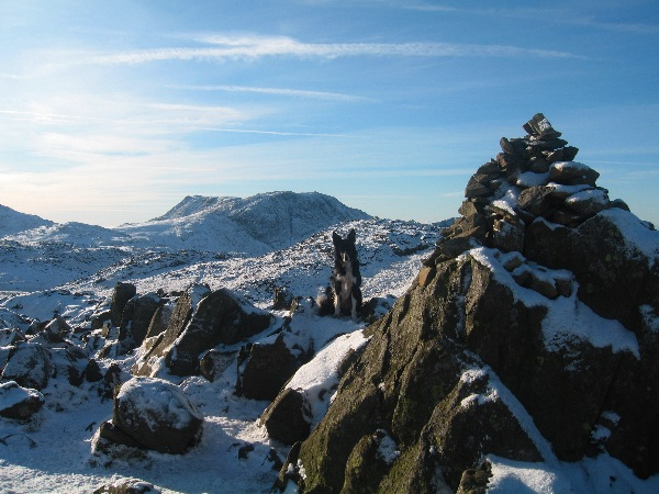 Glaramara summit with Great End beyond