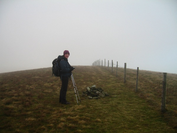 Burnbank Fell (yes that is the summit cairn!)
