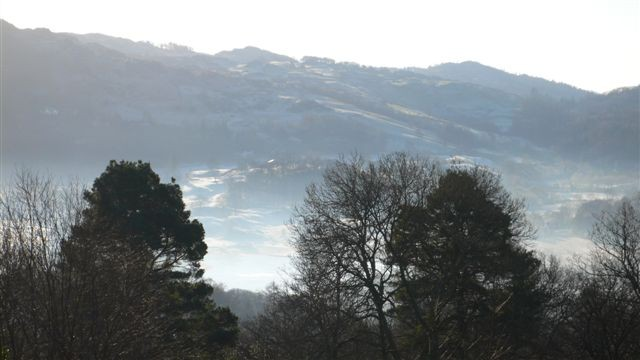 Valley mist over Elterwater