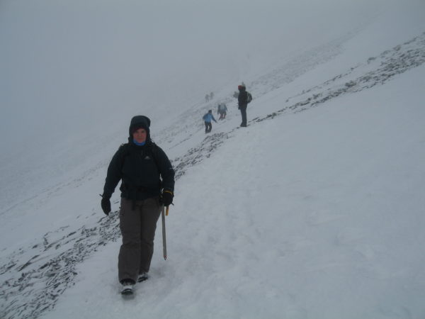 Slippery paths descending Skiddaw