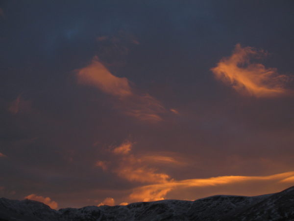 Sunset over the Tarmachan Ridge
