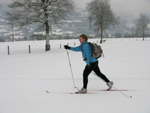 Fiona looking like the pro X-Country Skier