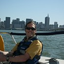 Sailing with downtown San Francisco behind