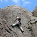 Ian at Black Crag