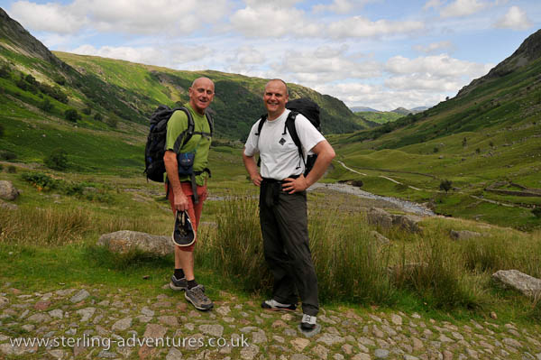Keith and Richard on the way up to Sty Head Tarn