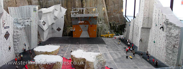 "Ratho climbing wall is ""Wide"""