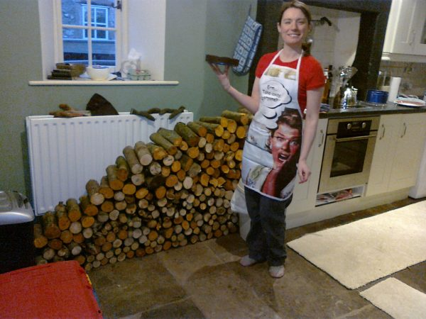 Wood drying in the kitchen