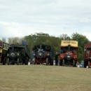 Road engines at the steam rally. I particularly liked the steam-powered bus on the far left.