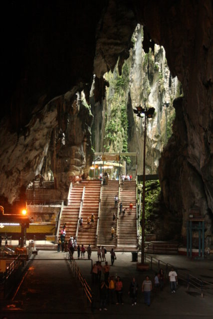 The temple cave.