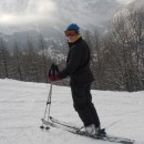 Rachel on the slopes
