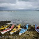 The kayaks ready to go.