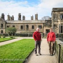 Paul and Laetitia enjoying the amazing grounds and gardens of Ilam Hall