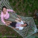 Laetitia & Koon fooling around in the hammock at our apartment