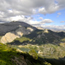 A panoramic shot overlooking El Chorro