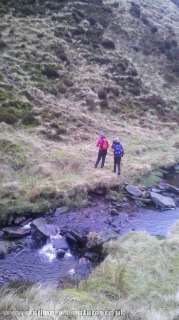 Rachel and Katy at Sheepfold Clough
