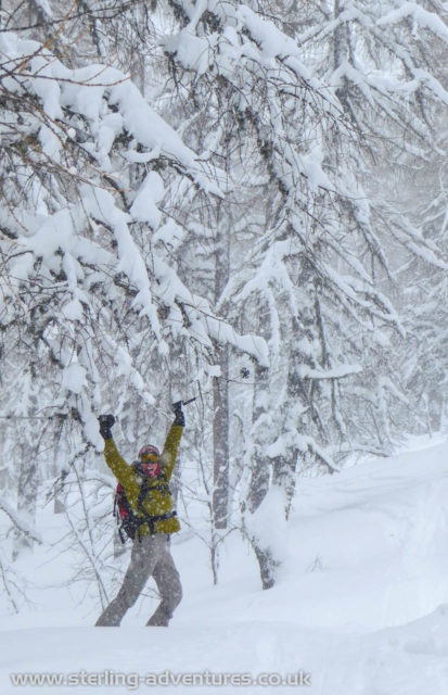 Yeah!  We love skiing in the deep deep powder!