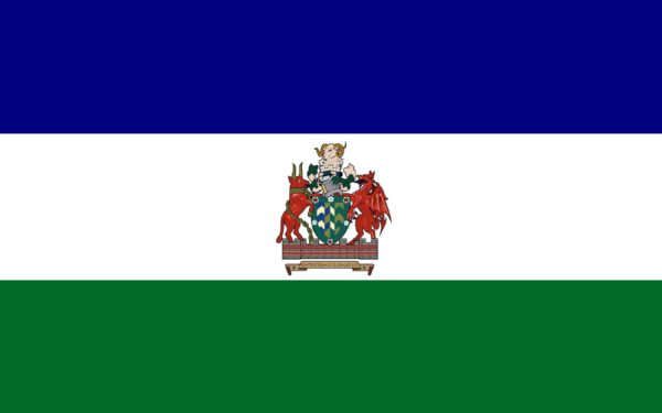 A Cumbrian flag with arms!