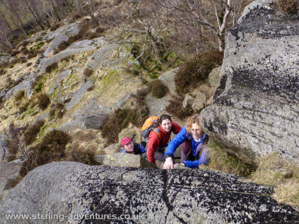 Paul, Laetitia, and Astrid on Holme Fell