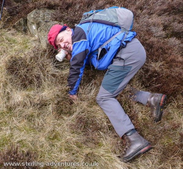 Paul finds the Holme Fell letterbox