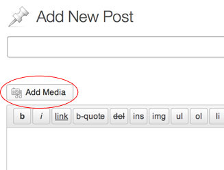 "Step 1 - click the ""Add Media"" button."