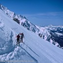 Traversing from the Aiguille du Plan towards the Grand Mulets hut