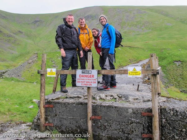 Crazy kids ignoring the signs and using the ruined Keppel Cove as a bridge