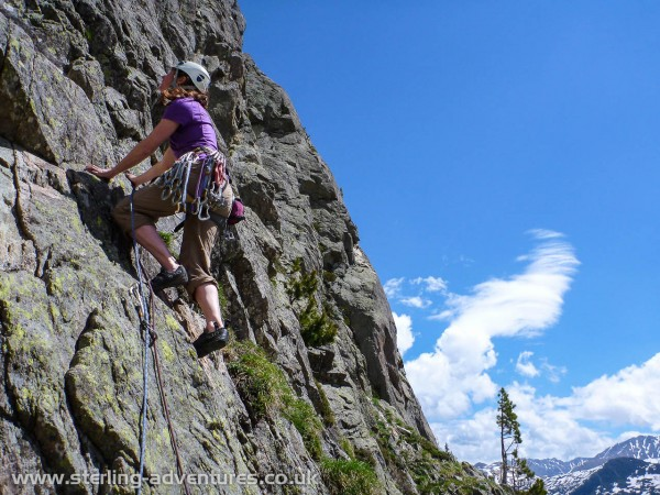 Laetitia starting Into the Wild in the beautiful Vallon de Bérard