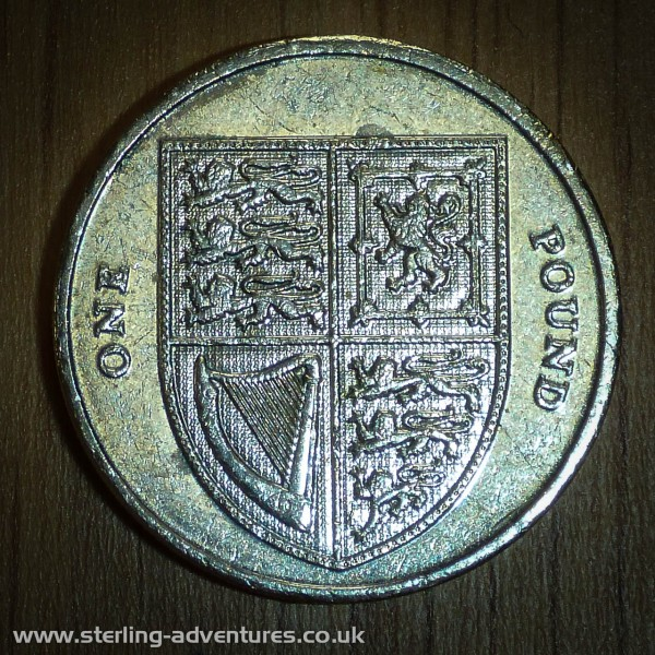 The Royal Shield shown on the One Pound coin