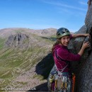 Laetitia sets off on the fifth pitch of The Needle