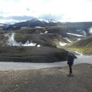 Hot springs on the way back to Landmannalaugar.