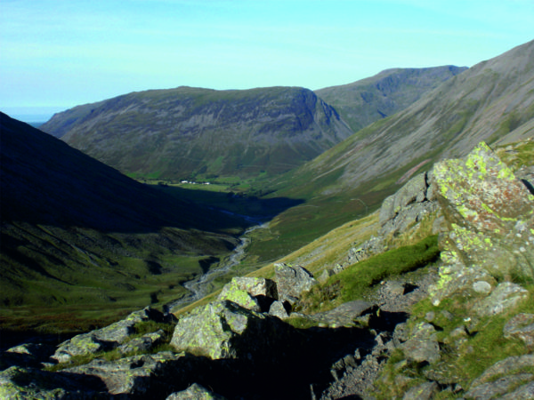 View down to Wasdale