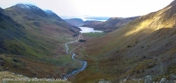 The view back down towards Buttermere