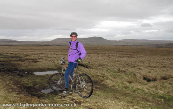 """Pete on the """"Allotment"""" with Pen-y-ghent behind"""