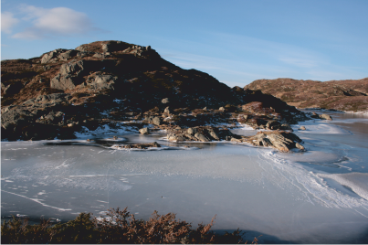 One of the frozen lakes.