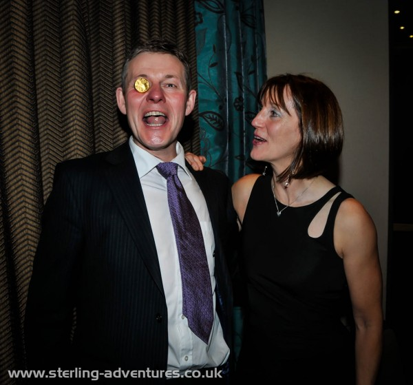 The dynamic AGM Party organising duo, Steve Crossley and Alison Athroll