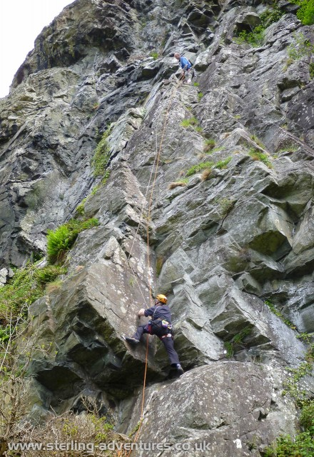 Steve and Gus on Stretch at Lower Falcon Crag, Borrowdale