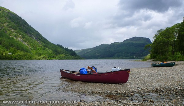 A stop on Loch Lubnaig for refreshment