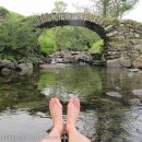 Cooling my feet at Sweden Bridge.