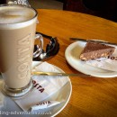 A nice caffè latte and tiffin chocolate !