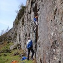 Ted leading Casket with Steve belaying
