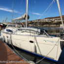 The Countess of Sleat (our floating caravan!) at Mallaig marina