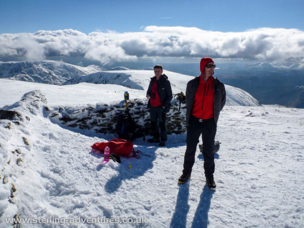 Ted and Dave at the summit of Helvellyn